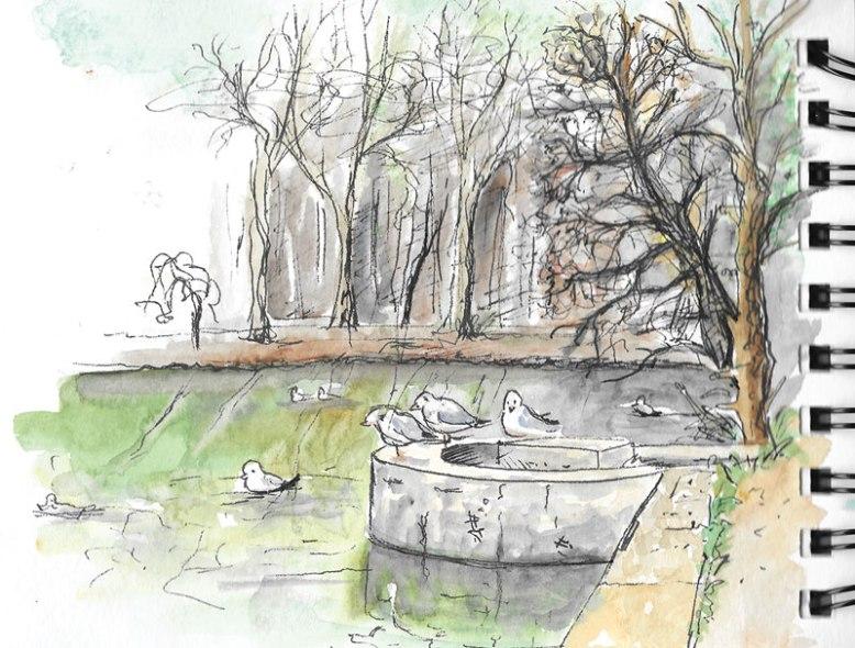 flo kanban illustration jeunesse carnet croquis Bois de Meudon la Fôret