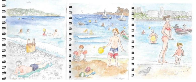 flo kanban illustration jeunesse carnet croquis plages mer vacances