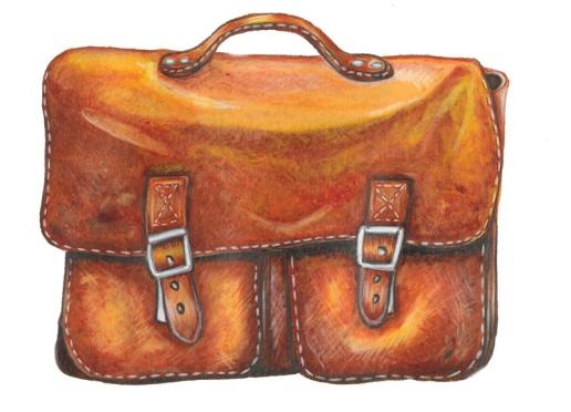 flo kanban illustration jeunesse cartable rentrée classe cuir