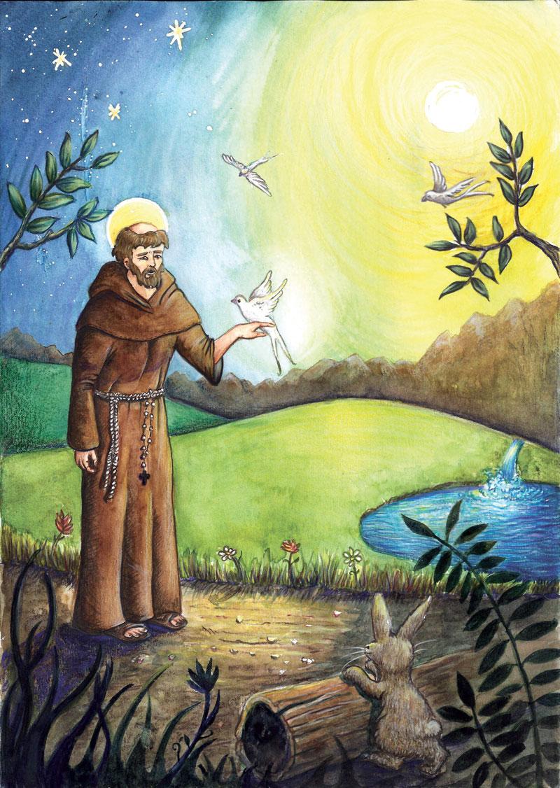 flo kanban illustration jeunesse illustration religieuse saint françois
