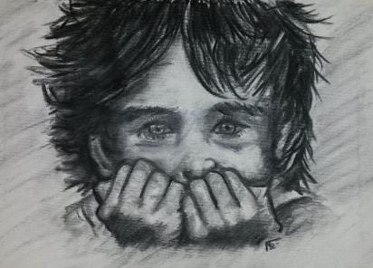 flo kanban illustration jeunesse cadeau naissance tableau portrait fusain gavroche poulbot