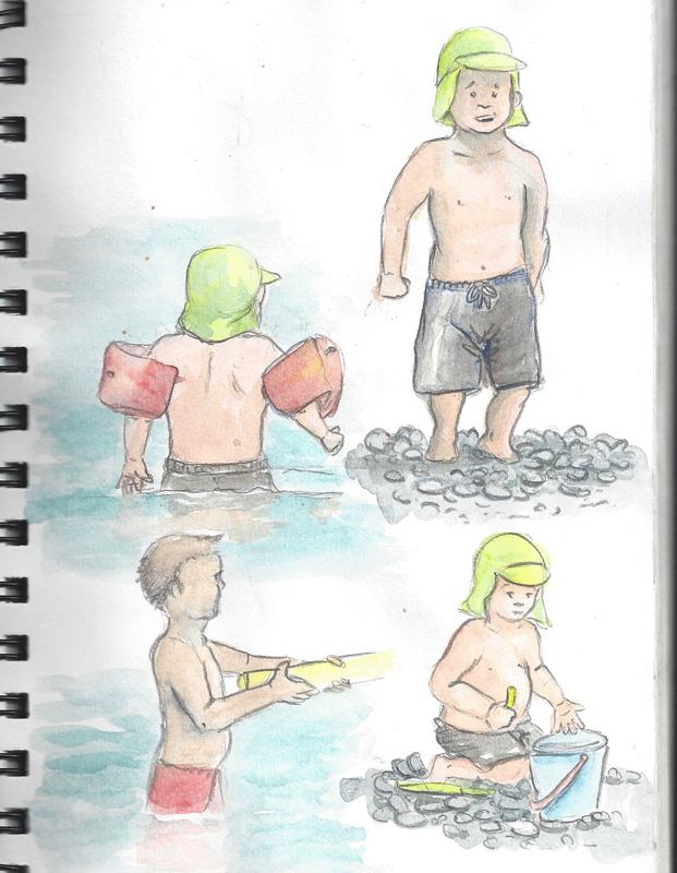 flo kanban illustration jeunesse enfant plage