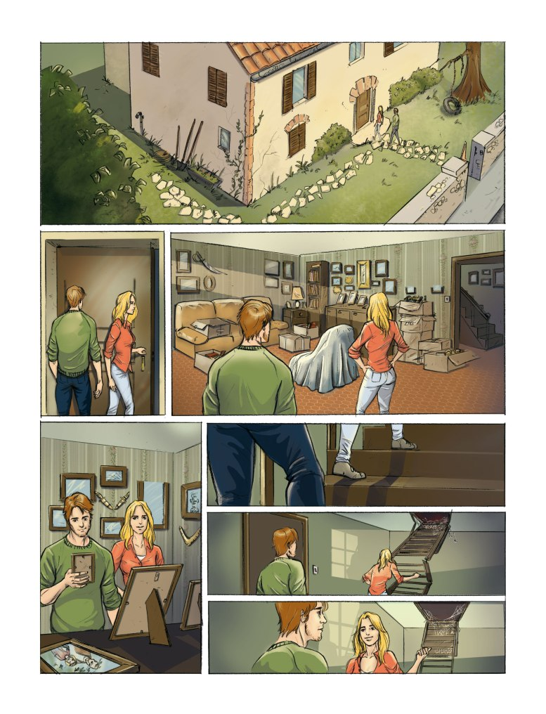 flo kanban illustration jeunesse colorisation BD pavillon grand pére