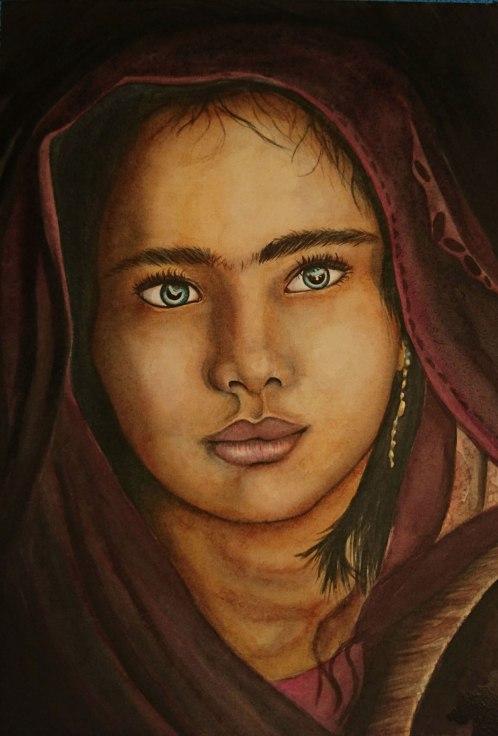 flo kanban illustration jeunesse Portrait aquarelle