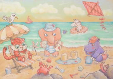flo kanban illustration jeunesse plage mer enfants