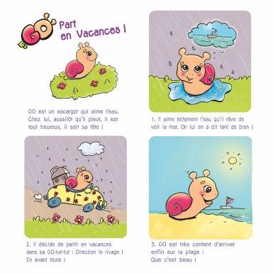 Flo kanban illustration jeunesse BD escargot