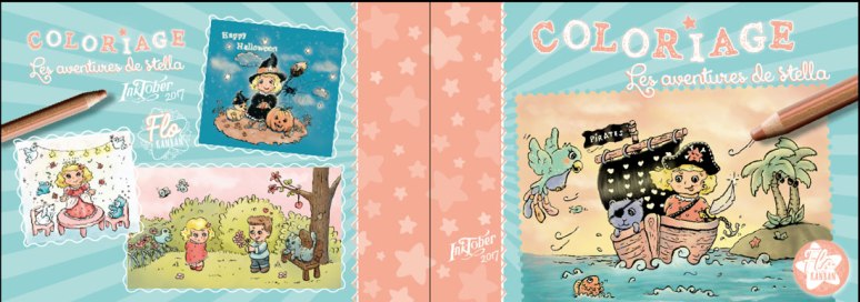 flo kanban illustration jeunesse personnage Stella coloriage