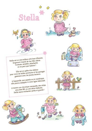 Flo kanban illustration jeunesse personnage Stella