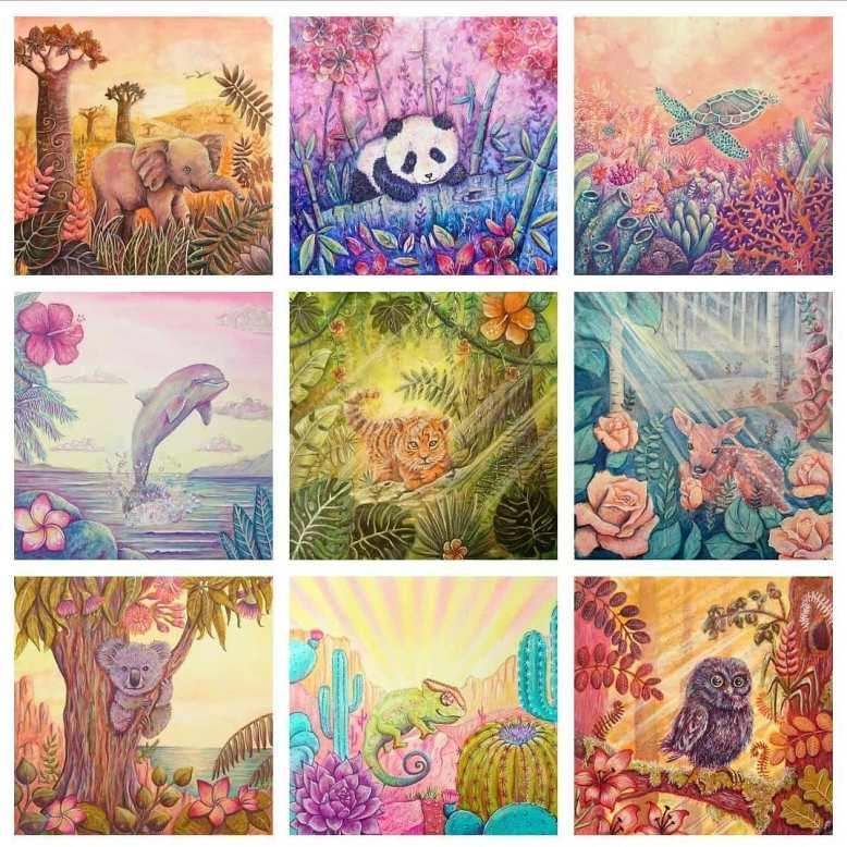Flo kanban illustration jeunesse bestiaire Voeuxd'artistes