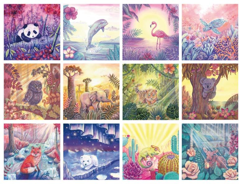 Flo kanban illustration jeunesse bestiaire Vœux d'artistes