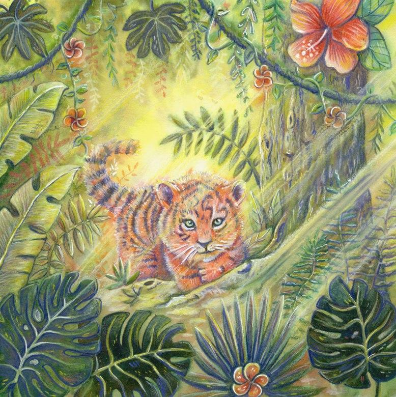Flo kanban illustration jeunesse bestiaire Vœux d'artistes tigre