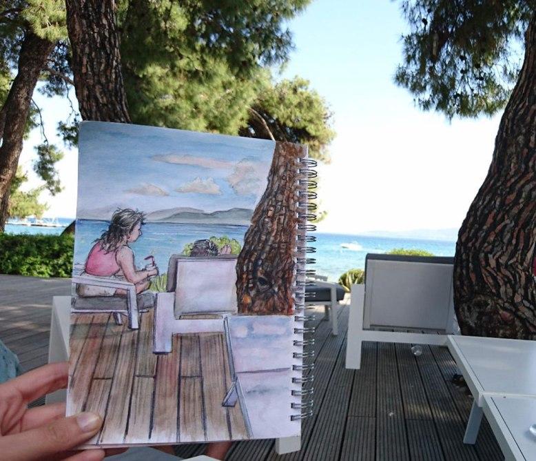 flo kanban illustration jeunesse plage Grèce Gregolimanos