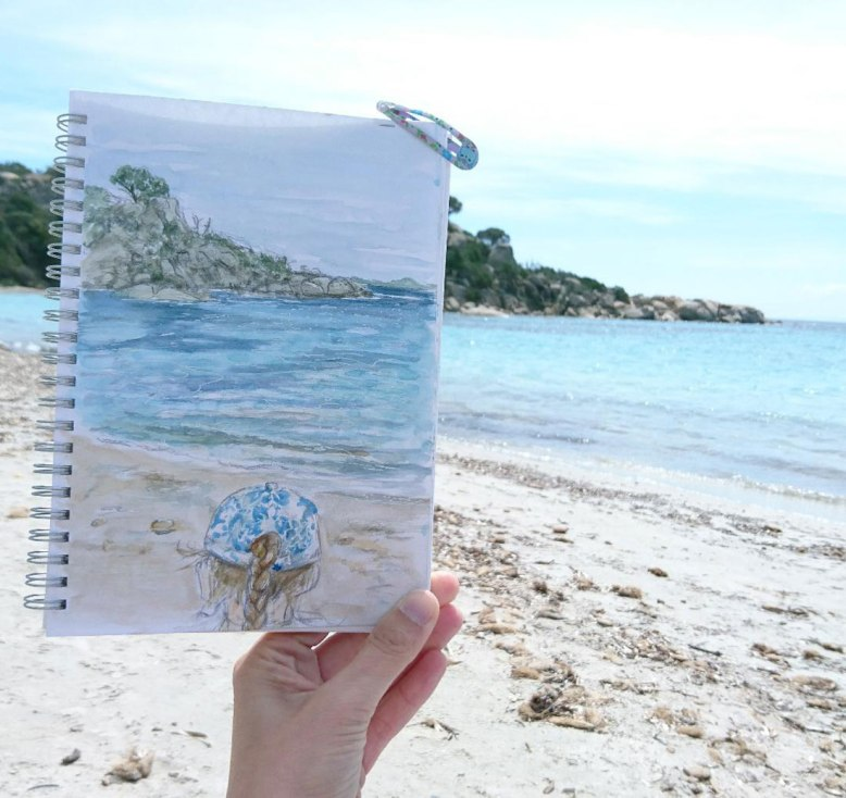 Flo_Kanban_illustratrice_carnet-croquis-Corse_Plage