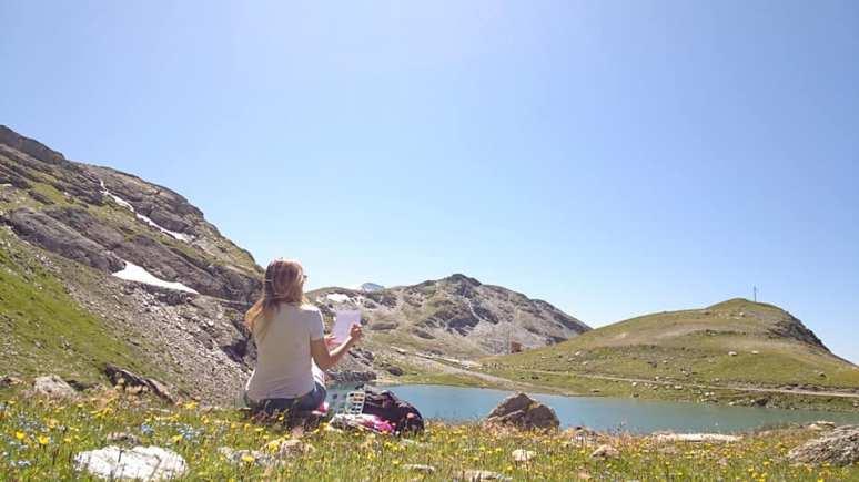 Séance Croquis - Lac Marlou, les Arcs - Savoie